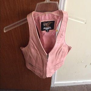 Ladies' leather vest